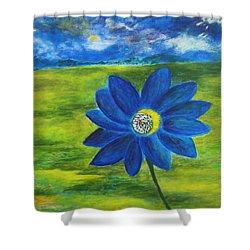 Indigo Blue - Sunflower Shower Curtain