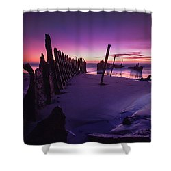 Indigo Dawn Shower Curtain