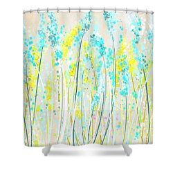 Teal And Yellow Shower Curtains | Fine Art America