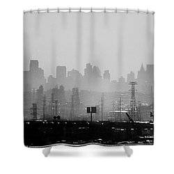 Industrial And Corporate Shower Curtain by James Aiken