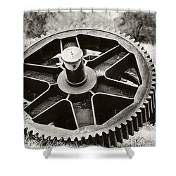 Industrial Gear Shower Curtain by Scott Pellegrin