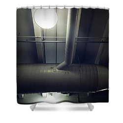 Industrial Interior Shower Curtain by Les Cunliffe