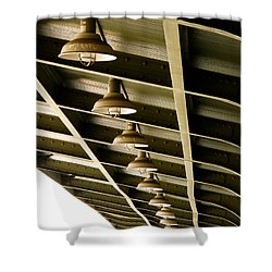 Industrial Lights Shower Curtain by Randi Kuhne