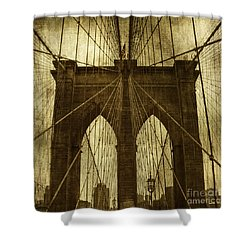 Industrial Spiders Shower Curtain by Andrew Paranavitana
