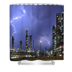 Shower Curtain featuring the photograph Lightning by Arterra Picture Library