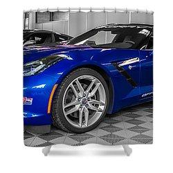 Indy 500 Corvette Pace Car Shower Curtain