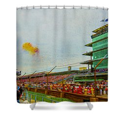 Indy 500 May 2013 Race Day Start Balloons Shower Curtain
