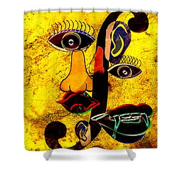 Infected Picasso Shower Curtain by Ally  White