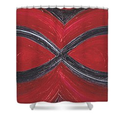 Infinite Love By Jrr Shower Curtain by First Star Art