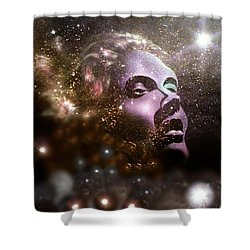 Shower Curtain featuring the painting Infinity by James McAdams