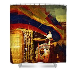 Shower Curtain featuring the digital art Inflating by Kirt Tisdale