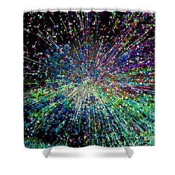 Information Explosion Shower Curtain by Mariarosa Rockefeller