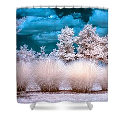 Infrared Bushes Shower Curtain