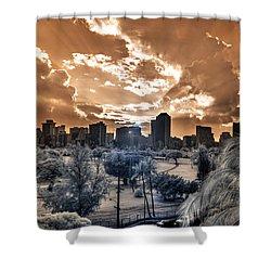 Infrared Sunset Shower Curtain