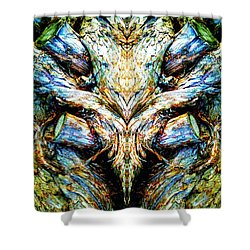 Ingrained Wings Shower Curtain