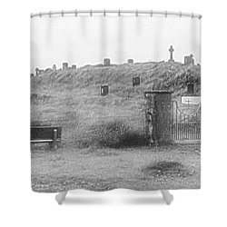 Inis Oirr Cemetery Shower Curtain