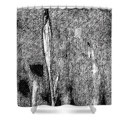 Ink Iris Shower Curtain by Yevgeni Kacnelson