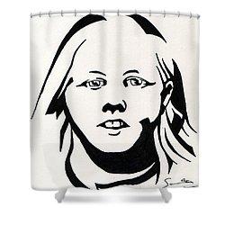 Ink Portrait Shower Curtain