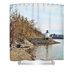 Inlet Lighthouse 2 Shower Curtain