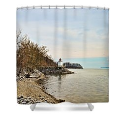Shower Curtain featuring the photograph Inlet Lighthouse 4 by Greg Jackson