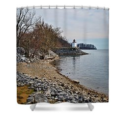 Inlet Lighthouse Shower Curtain