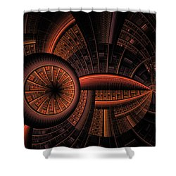 Shower Curtain featuring the digital art Inner Core by GJ Blackman