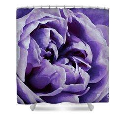 Lavender Motive Shower Curtain by Jean OKeeffe Macro Abundance Art