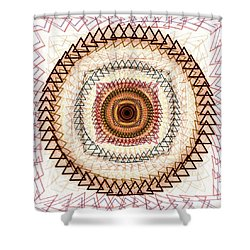 Inner Purpose Shower Curtain by Anastasiya Malakhova