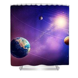 Inner Solar System Planets Shower Curtain