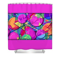 Inner Space Shower Curtain by Gerry Robins