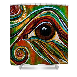 Inner Strength Spirit Eye Shower Curtain