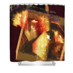 Inner Turmoil Digital Oil Painting Shower Curtain