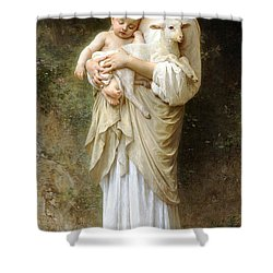 Innocence Shower Curtain by William Bouguereau