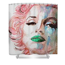 Insecure  Flawed  But Beautiful Shower Curtain by Paul Lovering