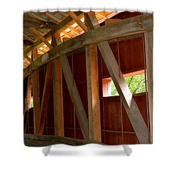 Inside A Covered Bridge 2 Shower Curtain
