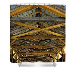 Inside A Covered Bridge 3 Shower Curtain