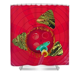 Inside A Red Chinese Lantern Shower Curtain by Kym Backland