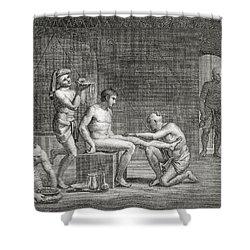 Inside An Egyptian Bathhouse, C.1820s Shower Curtain by Dominique Vivant Denon