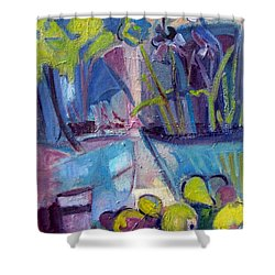 Inside And Outside Abstract Expressionism Shower Curtain