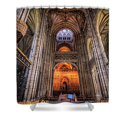 Inside Canterbury Cathedral Shower Curtain