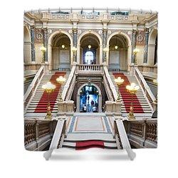 Inside Of National Museum In Prague Shower Curtain by Michal Bednarek
