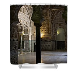 Inside The Alcazar Of Seville Shower Curtain
