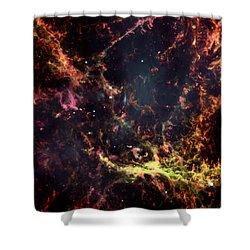 Inside The Crab Nebula  Shower Curtain by Jennifer Rondinelli Reilly - Fine Art Photography