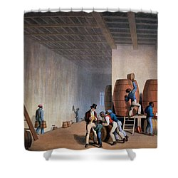 Inside The Distillery, From Ten Views Shower Curtain by William Clark