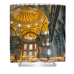 Inside The Hagia Sophia Istanbul Shower Curtain