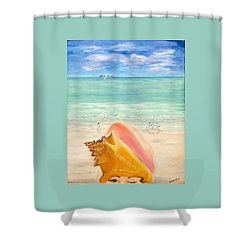 Inside The Head Of A Conch Woman Shower Curtain