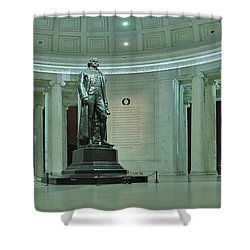 Inside The Jefferson Memorial Shower Curtain