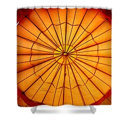Shower Curtain featuring the photograph Inside The Red Baloon by Nadalyn Larsen