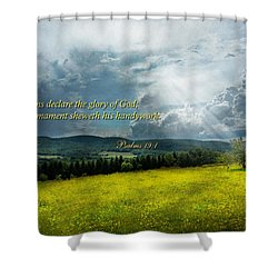Inspirational - Eternal Hope - Psalms 19-1 Shower Curtain by Mike Savad