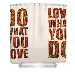 Inspiring Palette Knife Acrylic Shower Curtain